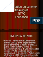 ntpc summer training