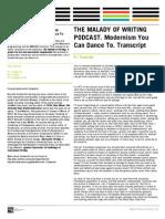 Malady Eng Transcript PDF