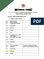 Form - A (NGO Proforma)