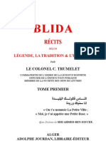 Blida_LÉGENDE, LA TRADITION & L'HISTOIRE_Tome1