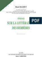 ESSAI SUR LA LITTÉRATURE DES BERBERES -1920