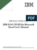 Cplex Excel User
