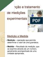 Obtenção e tratamento de medições experimentais