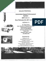 Redspeed speed camera proposal