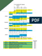 grade 7 2013-2014 math calendar