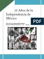 Los 203 Años de la Independencia de México