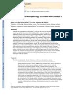 Neuroanatomy and Neuropathology associated with Korsakoff´s Syndrome