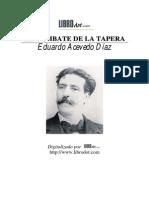 Acevedo Díaz, Eduardo - El combate de la tapera