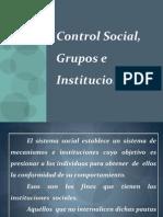 Modulo II Control Social, Grupos e Instituciones