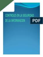 Controles en La Seguridad de La Informacion