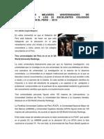 ARTICULO RANKING 100 MEJORES UNIVERSIDADES DE LATINOAMÉRICA 2013