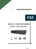 Mpeg4 Dvr Manual