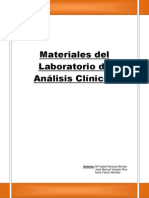Materiales Del Laboratorio de Analisis Clinicos