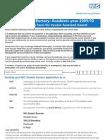 Psm1(New_deg)_0910_v1.3 Nhs Bursary Application Form