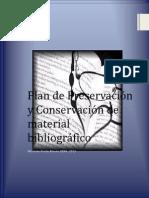 plan de preservación y conservacion