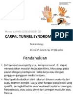 Carpal Tunnel Syndrome Print Ppt