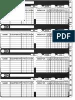 Kryomek Reference Sheets