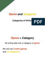 Genre Lesson