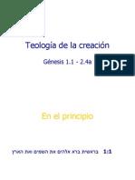 Devocional - Teologia de La Creacion