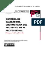 CONTROL DE CALIDAD DEL CRONOGRAMA DELPROYECTO EN P6 PROFESSIONAL