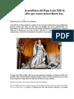 Tres análisis proféticos del Papa León XIII de hace 120 años que vemos desarrollarse hoy