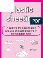 Plastic sheeting in humanitarian relief