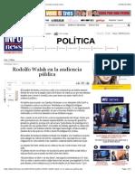 Rodolfo Walsh en la audiencia pública - Infonews   Un mundo, muchas voces