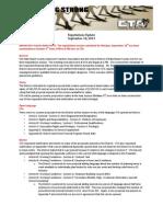 CTA Negotiations Update 9-10-13