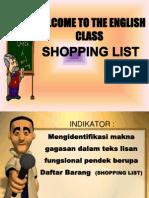 Materi Shopping List by Andi herliana