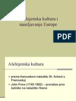 5. Aselejenska Kultura i Naseljavanje Europe
