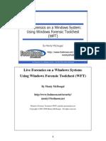 Live Forensics Using WFT