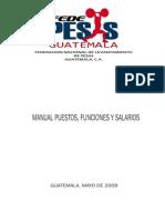 Manual de Funciones y Atribuciones Fedepesas