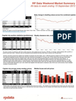 RP Data Weekend Market Summary (WE 13 Sept 2013)