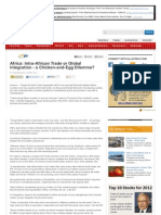 Africa, Intra-African Trade or Global Integration