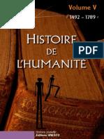 Histoire de l'Humanité Unesco Volume V 1492-1789