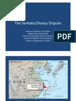 Thayer The Senkaku/Diaoyu Dispute