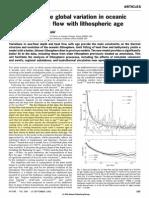 Stein Stein 1992 Heat Flow Lithosphere Age
