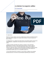 10 Pasos Para Iniciar Tu Negocio Online