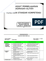 Pemetaan Sk-kd Aqidah Akhlak Ma Kelas x, 1-2