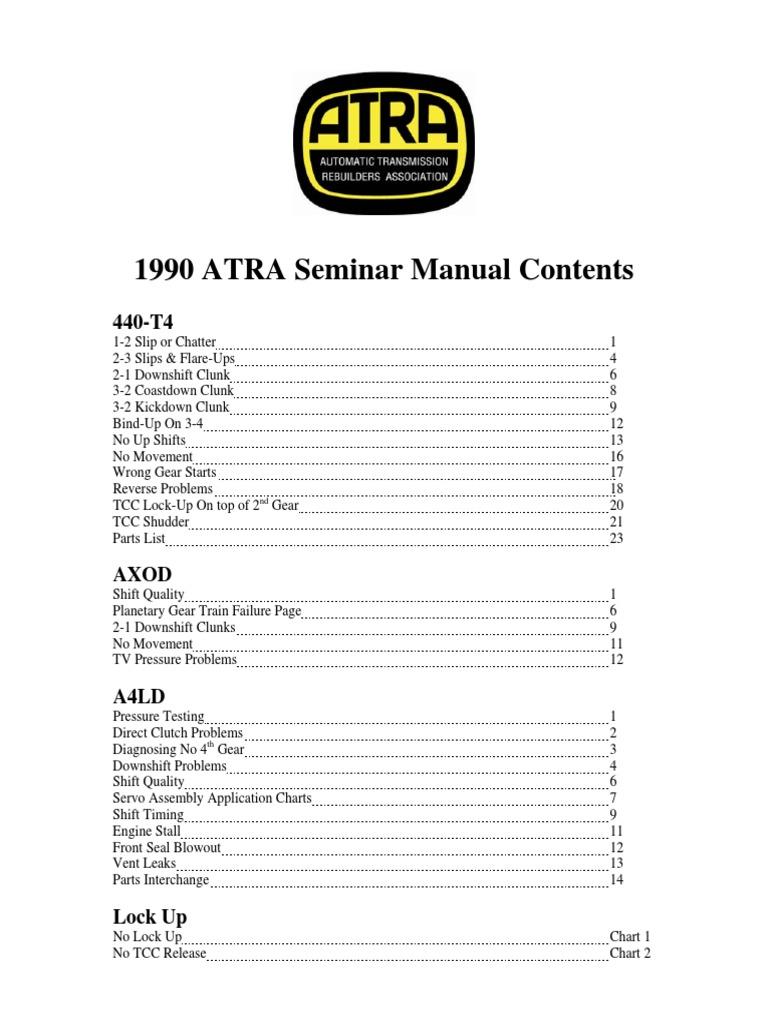 505   Manual Transmission   Automatic Transmission