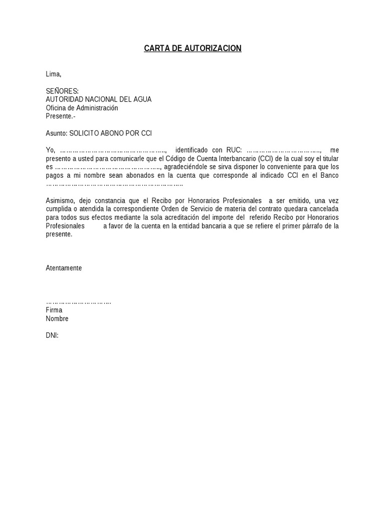 Modelo carta de cci for Que oficina de empleo me corresponde
