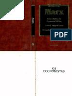 MARX Karl Para a Critica Da Economia Politica Os Economistas