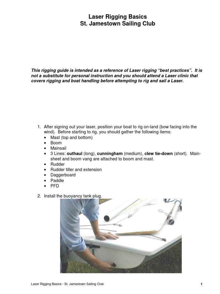 Laser Rigging Basics | Rigging | Watercraft