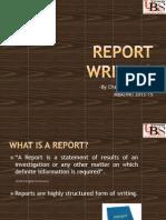 How to write gpod reports