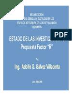 Mesa Redonda PUCP Julio 2008 Factor R para Edificios de Ductilidad Limitada