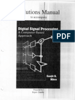 Digital Signal Processing,Mitra,Solution Manual