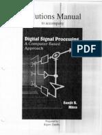 Digital Signal Processing,Mitra,Solution Manual