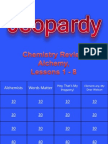 Jeopardy Review for Alchemy, Lessons 1-8
