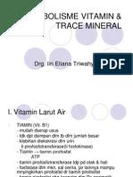 Metabolisme Vitamin & Trace Mineral