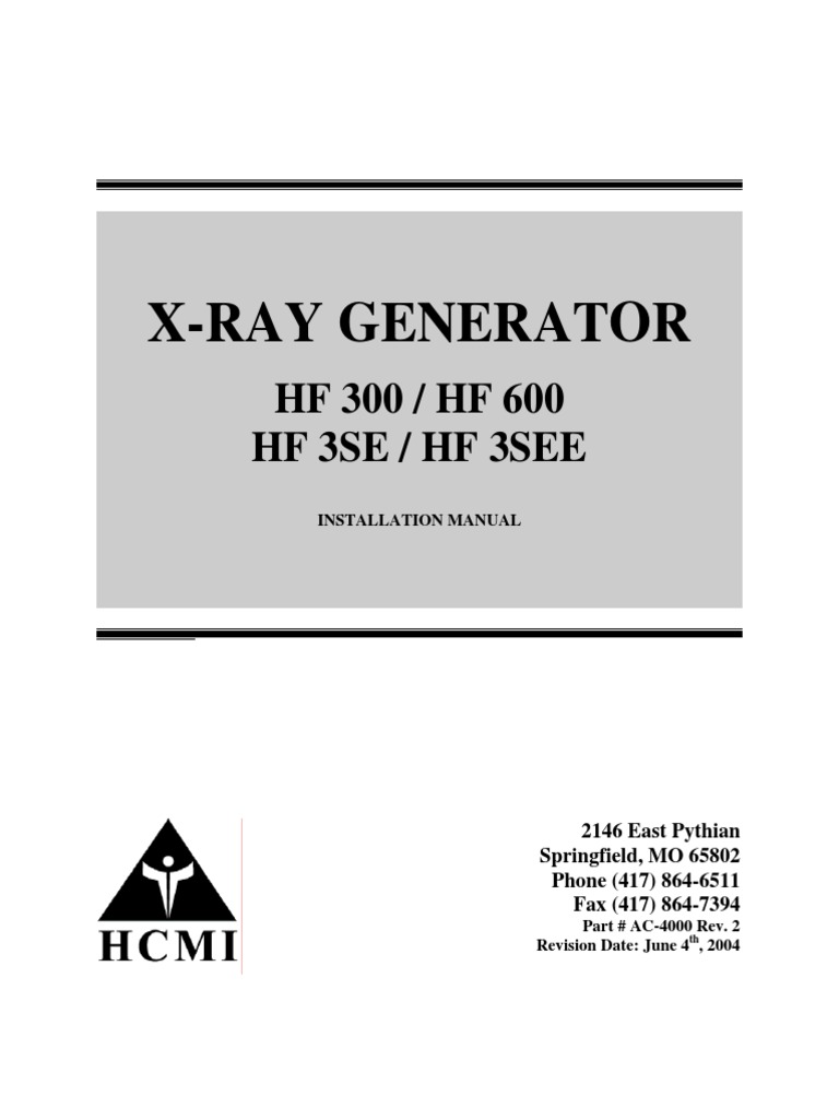 hcmi hf generator x ray generator service manual pdf switch rh scribd com  siemens polymobil 10 service manual